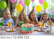 Купить «Birthday party», фото № 12694122, снято 8 июля 2015 г. (c) Raev Denis / Фотобанк Лори