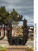 Купить «Герб города Заводоуковска», эксклюзивное фото № 12694694, снято 12 сентября 2015 г. (c) Иван Карпов / Фотобанк Лори