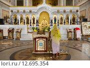 Купить «Внутреннее убранство Владимирского собора в Херсонесе Таврическом», фото № 12695354, снято 3 августа 2015 г. (c) Михаил Рыбачек / Фотобанк Лори