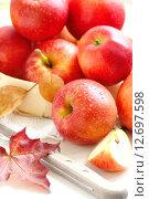Осенние яблоки. Стоковое фото, фотограф Ольга Гамзова / Фотобанк Лори