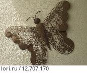 Купить «art wire butterfly deco filigree», фото № 12707170, снято 21 марта 2019 г. (c) PantherMedia / Фотобанк Лори