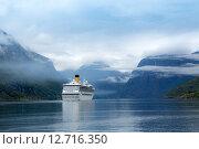 Купить «Cruise Liners On Hardanger fjorden», фото № 12716350, снято 17 июня 2015 г. (c) Андрей Армягов / Фотобанк Лори