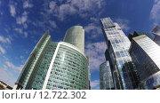 Вид на небоскребы Москва-сити (2015 год). Редакционное видео, видеограф Vladimir Botkin / Фотобанк Лори