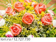 Купить «Nice roses in celebration concept», фото № 12727730, снято 2 июля 2015 г. (c) Elnur / Фотобанк Лори