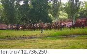 Купить «Тренировка выступления казаков», видеоролик № 12736250, снято 21 сентября 2015 г. (c) Яков Чешихин / Фотобанк Лори