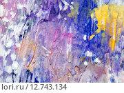 Купить «Веселая текстура краски, фрагмент картины», фото № 12743134, снято 12 ноября 2014 г. (c) Elizaveta Kharicheva / Фотобанк Лори
