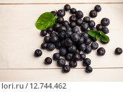Купить «Fresh blueberries in close up», фото № 12744462, снято 1 января 2008 г. (c) Wavebreak Media / Фотобанк Лори