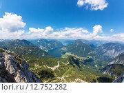 Купить «Obertraun, Lake Hallstatt - view from Dachstein», фото № 12752282, снято 21 марта 2019 г. (c) PantherMedia / Фотобанк Лори
