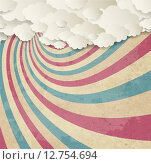 Купить «Vintage Background With Clouds», иллюстрация № 12754694 (c) PantherMedia / Фотобанк Лори
