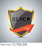 Black friday badge with ribbon. Стоковая иллюстрация, иллюстратор Mihaly Pal Fazakas / PantherMedia / Фотобанк Лори