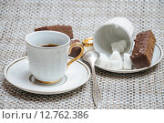 Coffee cups on the table. Стоковое фото, фотограф Алёшина Оксана / Фотобанк Лори