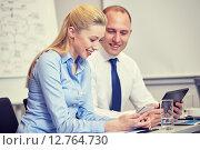Купить «businesspeople with smartphone and tablet pc», фото № 12764730, снято 25 октября 2014 г. (c) Syda Productions / Фотобанк Лори
