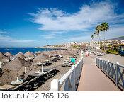 Купить «Пляж Fanabe в Коста Адехе. Тенерифе, Канарские острова», фото № 12765126, снято 20 декабря 2014 г. (c) Alexander Tihonovs / Фотобанк Лори