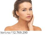 Купить «face and hands of beautiful woman», фото № 12769290, снято 17 марта 2013 г. (c) Syda Productions / Фотобанк Лори