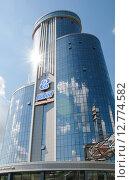 Купить «Здание бизнес-холла Бовид в г. Челябинск-3», фото № 12774582, снято 13 августа 2015 г. (c) Дмитрий Шульгин / Фотобанк Лори