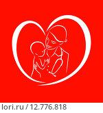 Медсестра с ребенком, терапевт лечит пациента, женщина врач, лечение ребенка, медицинских икона, символ лечения. Стоковая иллюстрация, иллюстратор Буркина Светлана / Фотобанк Лори