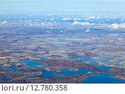 Купить «Tundra in autumn, top view», фото № 12780358, снято 24 сентября 2015 г. (c) Владимир Мельников / Фотобанк Лори