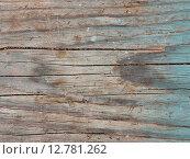 Текстура старой деревянной доски с остатками краски. Стоковое фото, фотограф Дарья Андрианова / Фотобанк Лори