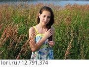 Купить «Портрет девушки», фото № 12791374, снято 23 августа 2015 г. (c) Ирина Здаронок / Фотобанк Лори