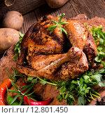 Купить «baked chicken», фото № 12801450, снято 20 мая 2019 г. (c) PantherMedia / Фотобанк Лори