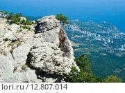 Купить «Скала на горе Ай-Петри. Крым», эксклюзивное фото № 12807014, снято 19 сентября 2015 г. (c) Александр Щепин / Фотобанк Лори