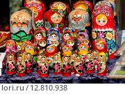 Русские матрёшки (2015 год). Редакционное фото, фотограф Валентин Родоманов / Фотобанк Лори