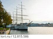 Купить «Набережная в Стокгольме. Швеция», фото № 12815586, снято 1 октября 2015 г. (c) Екатерина Овсянникова / Фотобанк Лори