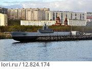 Купить «Подводная лодка-музей К-21 в городе Североморске», эксклюзивное фото № 12824174, снято 27 мая 2015 г. (c) Иван Мацкевич / Фотобанк Лори