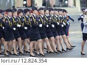 Купить «Военный парад на площади Павших Борцов в Волгограде 9 мая 2015 года», эксклюзивное фото № 12824354, снято 9 мая 2015 г. (c) Дмитрий Неумоин / Фотобанк Лори