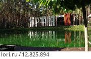 Купить «Пруд в зоне отдыха», видеоролик № 12825894, снято 6 октября 2015 г. (c) Потийко Сергей / Фотобанк Лори