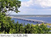 Купить «Ульяновский мост через реку Волга», эксклюзивное фото № 12828346, снято 8 июля 2015 г. (c) Иван Мацкевич / Фотобанк Лори