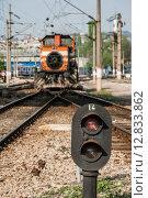 Купить «Railway Semaphore Near Haydarpasa», фото № 12833862, снято 21 октября 2018 г. (c) PantherMedia / Фотобанк Лори