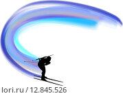 Купить «biathlon athlete», иллюстрация № 12845526 (c) PantherMedia / Фотобанк Лори