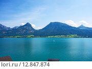 Купить «Wolfgangsee, Austria», фото № 12847874, снято 27 июня 2019 г. (c) PantherMedia / Фотобанк Лори
