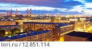Купить «Санкт-Петербург. Вид сверху на Кировский район», эксклюзивное фото № 12851114, снято 7 октября 2015 г. (c) Литвяк Игорь / Фотобанк Лори