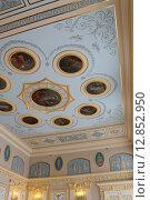 Купить «Роспись потолка в Голубом зале Екатерининского дворца. г. Пушкин», фото № 12852950, снято 24 июня 2012 г. (c) Владимир Тучин / Фотобанк Лори