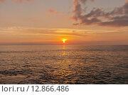 Закат на Карибском побережье острова Гранд Кайман, Британские заморские территории, фото № 12866486, снято 11 октября 2015 г. (c) Иван Марчук / Фотобанк Лори
