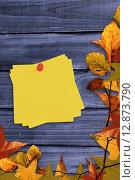 Купить «Composite image of sticky note with red pushpin», фото № 12873790, снято 18 июля 2019 г. (c) Wavebreak Media / Фотобанк Лори