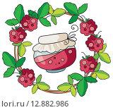 Купить «Домашнее варенье, виньетка», иллюстрация № 12882986 (c) Елисеева Екатерина / Фотобанк Лори