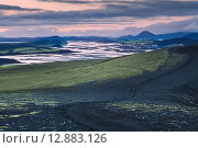 Закат в Исландии. Стоковое фото, фотограф Константин Ламин / Фотобанк Лори