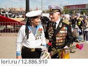 Два ветерана. 9 мая 2015 года. Редакционное фото, фотограф Михаил Ворожцов / Фотобанк Лори