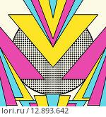 Купить «Retro 80s geometric pattern background», иллюстрация № 12893642 (c) PantherMedia / Фотобанк Лори