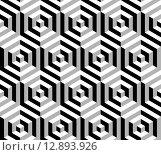 Купить «Isometric 3d hexagon seamless pattern background», иллюстрация № 12893926 (c) PantherMedia / Фотобанк Лори
