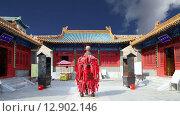 Традиционный буддийский храм, Пекин, Китай (2015 год). Стоковое видео, видеограф Владимир Журавлев / Фотобанк Лори