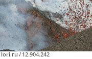 Купить «Камчатка, извержение вулкана Плоский Толбачик», видеоролик № 12904242, снято 2 февраля 2013 г. (c) А. А. Пирагис / Фотобанк Лори