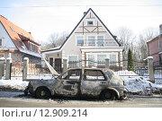 Пожар в машине. Стоковое фото, фотограф Дмитрий Пискунов / Фотобанк Лори