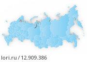 Новая карта России с Крымом, 3d-модель. Стоковая иллюстрация, иллюстратор Станислав Парамонов / Фотобанк Лори