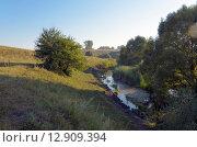 Купить «Река Упа в Тульской области в августе», фото № 12909394, снято 9 августа 2015 г. (c) Валерий Боярский / Фотобанк Лори