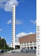 Башня олимпийского стадиона в Хельсинки (2015 год). Редакционное фото, фотограф Данилова Наталья / Фотобанк Лори