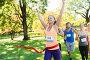 happy young female runner winning on race finish, фото № 12911250, снято 16 августа 2015 г. (c) Syda Productions / Фотобанк Лори
